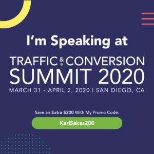 Agency expert Karl Sakas speaking at Traffic & Conversion 2020